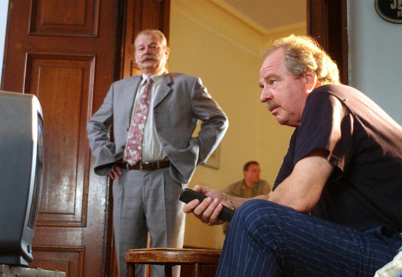 Clemens Wisotzki (Dieter Montag, li.), Mario Bechstein (Friedrich v. Thun) – Bild: MDR/Aspekt-Telefilm