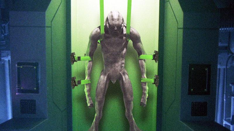 Ein Experiment mit einer Zeitmaschine öffnet ein Fenster in die Zukunft, das mutierte Monster nutzen, um in die Gegenwart zu gelangen und dort ihrem mörderischen Treiben nachzugehen. Der Wissenschaftler Dr. James Radnor, der Konstrukteur der Zeitmaschine, muss das Militär dabei unterstützen, die schreckenerregenden Kreaturen zu bekämpfen… – Bild: RTL II