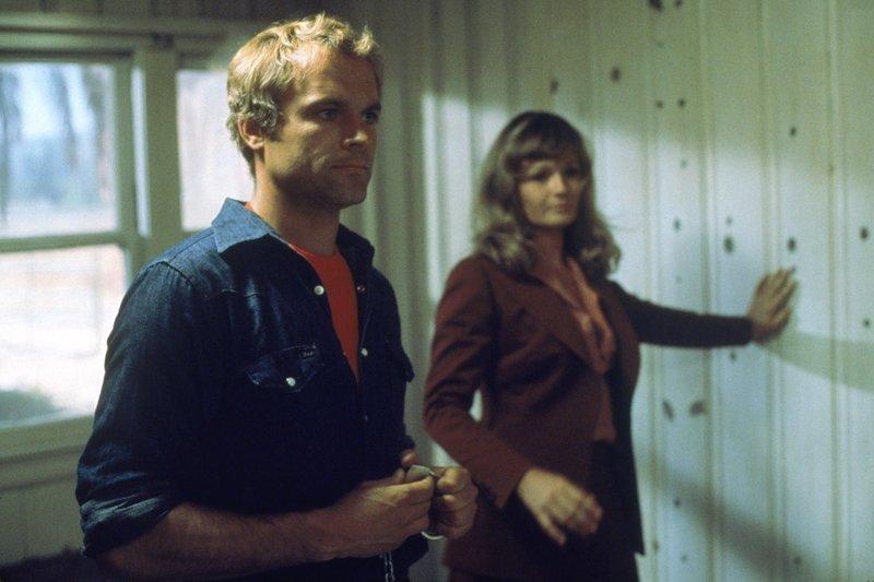 Auf dem Weg von Rom nach Nordkalifornien lernt Guido Falcone (Terence Hill, l.) die Privatdetektivin Rosie Jones (Valerie Perrine, r.) kennen und lieben ... – Bild: ATV II