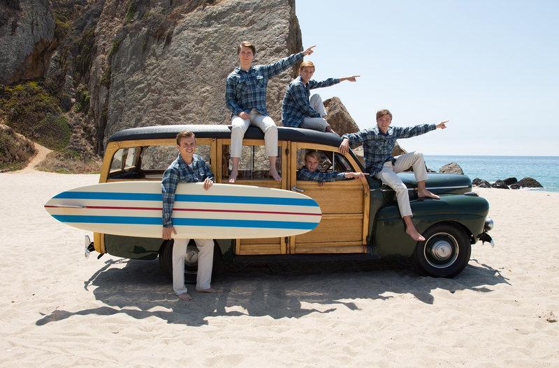 Kreierten den legendären Surfsound und brachten Anfang der Sechziger Generationen zum Kreischen - die Beach Boys. – Bild: WDR/studiocanal Filmverleih