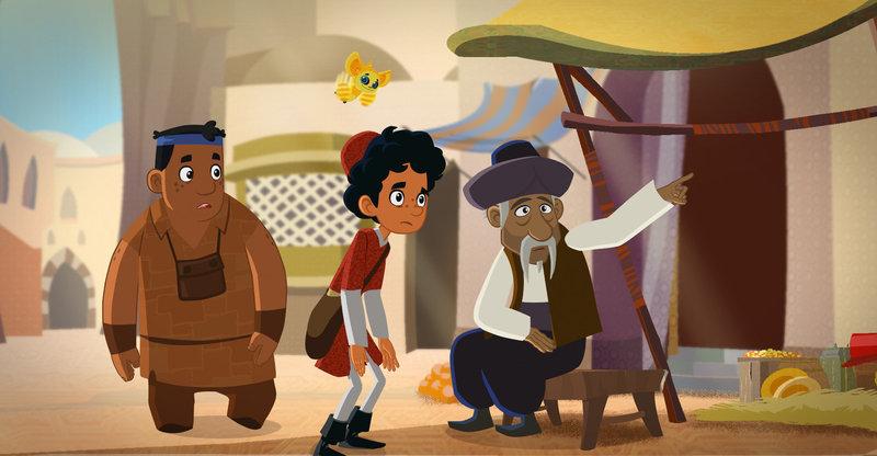 """""""Die Abenteuer des jungen Marco Polo"""", """"In Diensten der Kreuzritter von Akkon."""" Marco und seine Freunde sind mittlerweile in Akkon angekommen. Von hier aus wollen sie ihre Reise hoch zu Ross fortsetzen. Leider finden sie in der ganzen Hafenstadt kein einziges Pferd. Alle wurden von den Kreuzrittern aufgekauft. Um an ein Reittier zu gelangen, treten Marco und seine Freunde kurzerhand als Knappen einem Orden bei. Dummerweise vergessen sie allerdings, das Kleingedruckte im Vertrag zu lesen und verpflichten sich - ohne es zu wissen - für etliche Jahre. – Bild: ORF eins"""