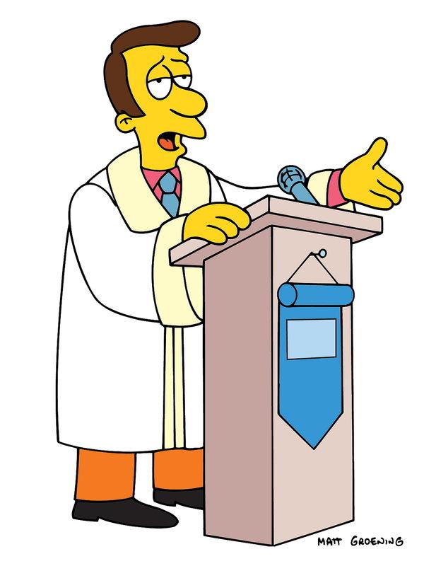 (14. Staffel) - Der Priester von Springfield, Timothy Lovejoy, steht immer wieder vor dem Problem, seine Schäfchen in Zaum zu halten ... – Bild: ProSieben