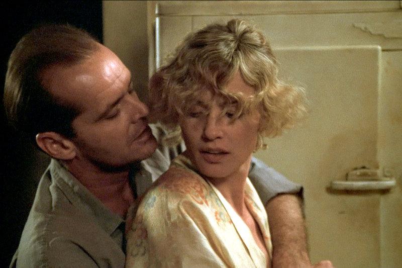 Wo Liebe im Verbrechen endet: Frank Chambers (Jack Nicholson) und die verheiratete Cora Papadakis (Jessica Lange). – Bild: ZDF / © Sven Nykvist