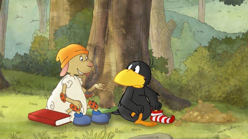 Wolle will Pechvogel Socke trösten.– Bild: SWR/NDR/Akkord Film