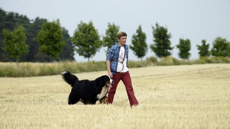 Fritz Fuchs (Guido Hammesfahr) und sein bester Kumpel Keks sind am liebsten draußen unterwegs. – Bild: ZDF/Antje Dittmann