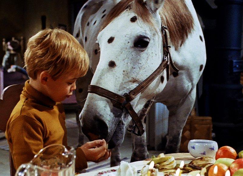 Pippi geht von Bord Er füttert das Pferd: Pär Sundberg als Tommy – Bild: SRF/(2018) Studio 100 Media