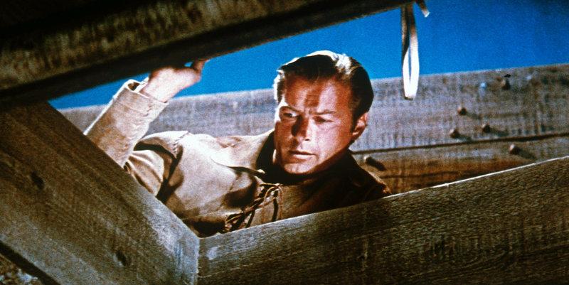 The Deerslayer, Lederstrumpf, Regie Kurt Neumann USA 1957, Darsteller Lex Barker als Wildtöter . – Bild: StarTV