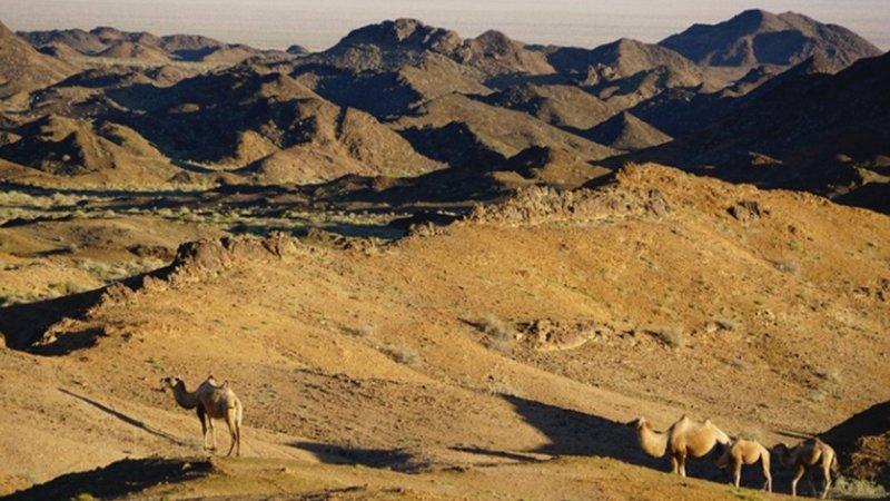 Geheimnisse Asiens - Mongolei: Weite, Wüste, Wildnis Wilde Landschaft der Mongolei – Bild: SRF/Autentic