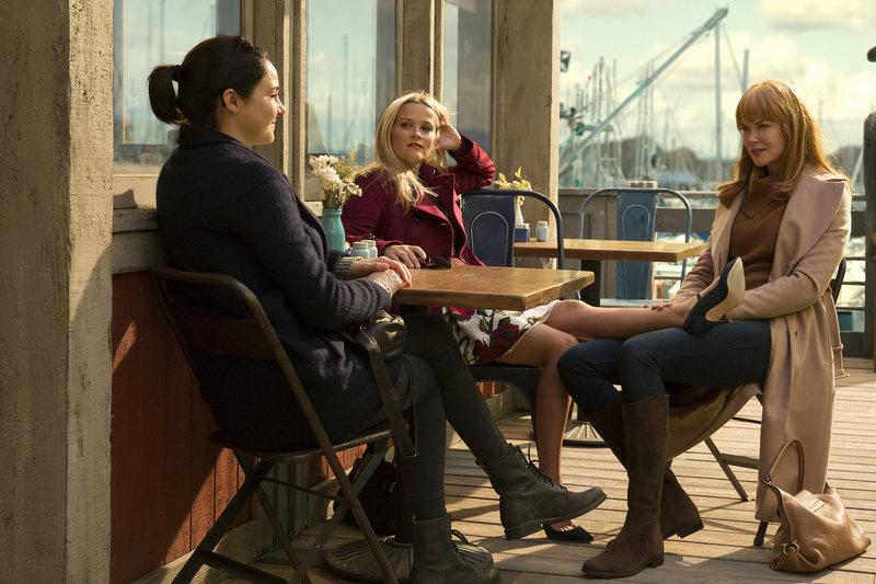 Von links nach rechts: Jane Chapman (Shailene Woodley), Madeline Mackenzie (Reese Witherspoon) und Celeste Wright (Nicole Kidman). – Bild: 2016 Home Box Office, Inc. All Rights Reserved.