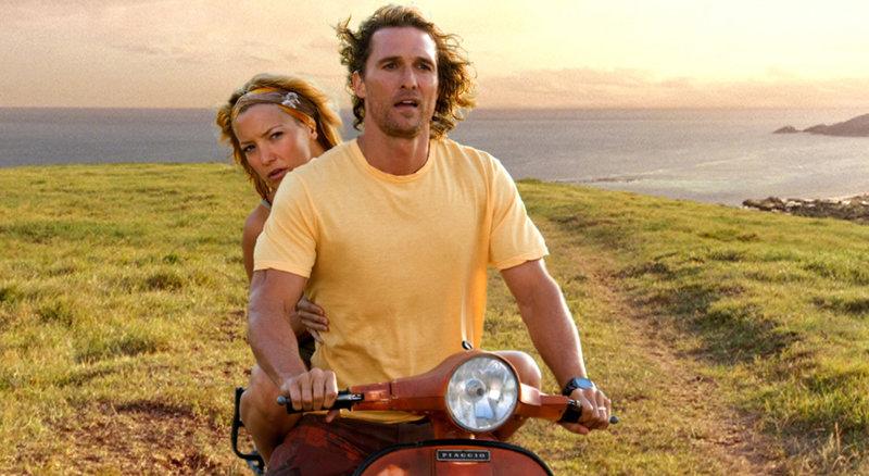 Benjamin (Matthew McConaughey, l.) und Tess (Kate Hudson, r.) begeben sich auf die Suche nach einem mysteriösen Schatz, doch die Suche verläuft nicht ohne Probleme ... – Bild: Puls 4