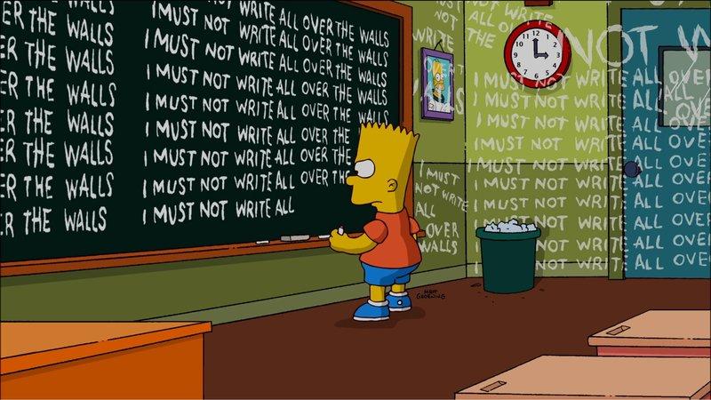 Bart hat ganz offensichtlich wieder mal etwas angestellt ... – Bild: W9