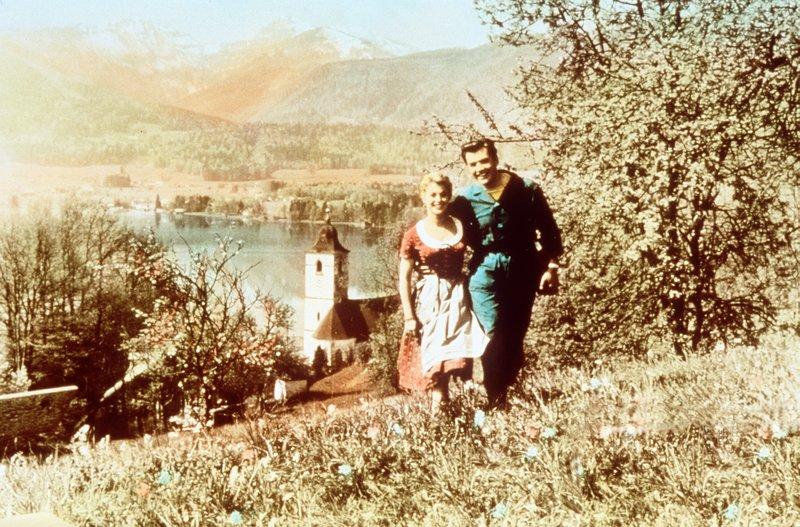 """""""Die Prinzessin von St. Wolfgang"""". Im Bild: Marianne Hold, Gerhard Riedmann. – Bild: BR Fernsehen"""