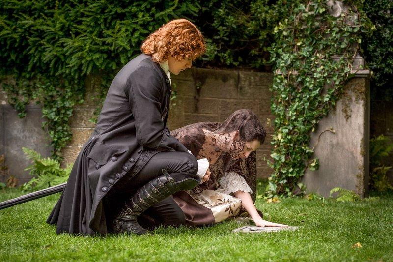 Sam Heughan (Jamie Fraser), Caitriona Balfe (Claire Randall Fraser). – Bild: ORF 2