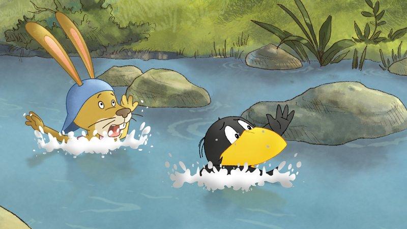 Auweia! Socke und Löffel können doch nicht schwimmen.– Bild: SWR/NDR/Akkord Film