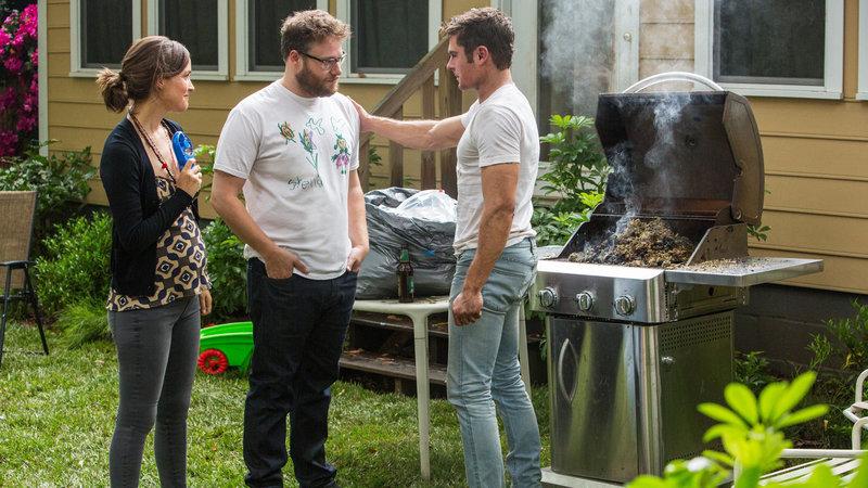 Bad Neighbors 2 Rose Byrne als Kelly, Seth Rogen als Mac, Zac Efron als Teddy SRF/Universal Pictures – Bild: SRF2