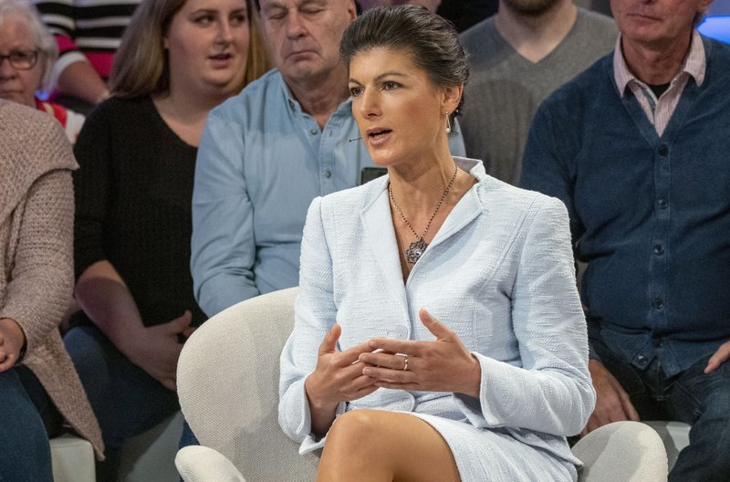 Zu Gast bei Sandra Maischberger: Sahra Wagenknecht, Die Linke (ehemalige Fraktionsvorsitzende) – Bild: WDR/Max Kohr