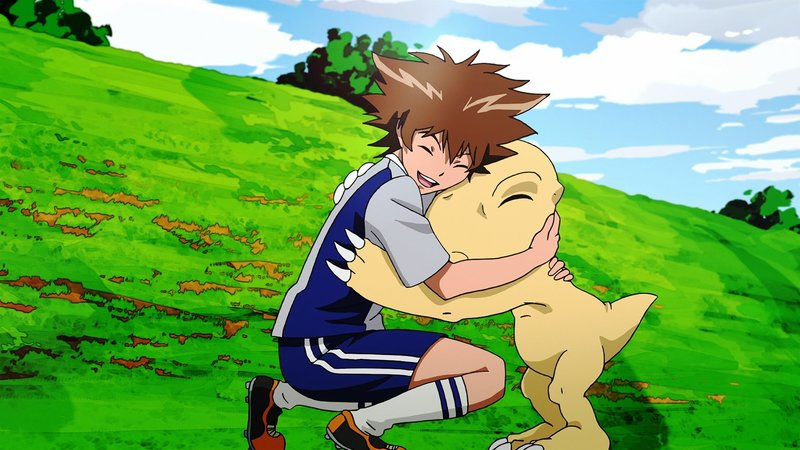 Tai Yagami; Agumon – Bild: 2015 Toei Animation Co., Ltd. Lizenzbild frei