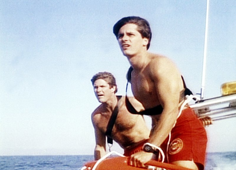 Mitch (David Hasselhoff, l.), Eddie (Billy Warlock) – Bild: Nitro.
