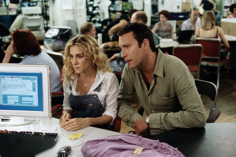 Carrie Bradshaw (Sarah Jessica Parker, l.); Aidan Shaw (John Corbett, r.) – Bild: 2019 Home Box Office, Inc. All rights reserved. HBO / Craig Blankenhorn Lizenzbild frei