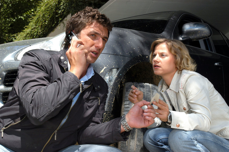 Hans Sigl (Andreas Blitz), Kristina Sprenger (Karin Kofler). – Bild: ORF III