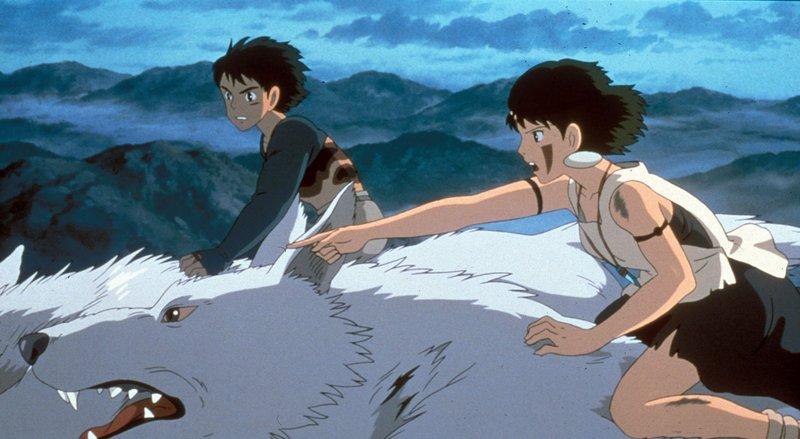 Krieger Ashitaka und Prinzessin Mononoke kämpfen gemeinsam gegen die böse Eboshi. – Bild: ProSieben MAXX