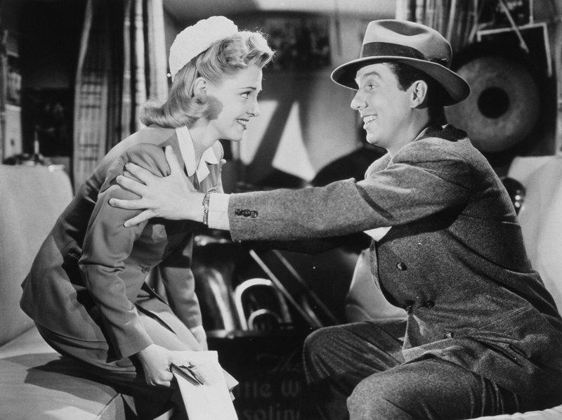 Susan Cowan (Vivian Blaine, l.); Chester Wright (Bob Bailey, r.) – Bild: 1943 Twentieth Century Fox Film Corporation. Lizenzbild frei