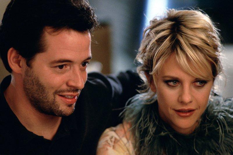 Maggie (Meg Ryan) und Sam (Matthew Broderick) tun ihre destruktiven Energien zusammen. Bis sie merken, dass ihre Verflossenen längst überflüssig sind, dauert es eine Weile… – Bild: 1997 Warner Bros. Entertainment Inc. All rights reserved.
