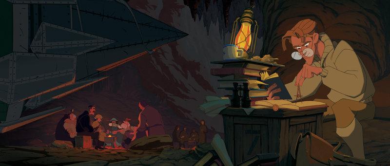 Der junge Wissenschaftler Milo Thatch macht sich mit einem Expertenteam auf die Suche nach der verlorenen Stadt. – Bild: Disney © Disney•Pixar © & ™ Lucasfilm LTD © Marvel. Alle Rechte Vorbehalten