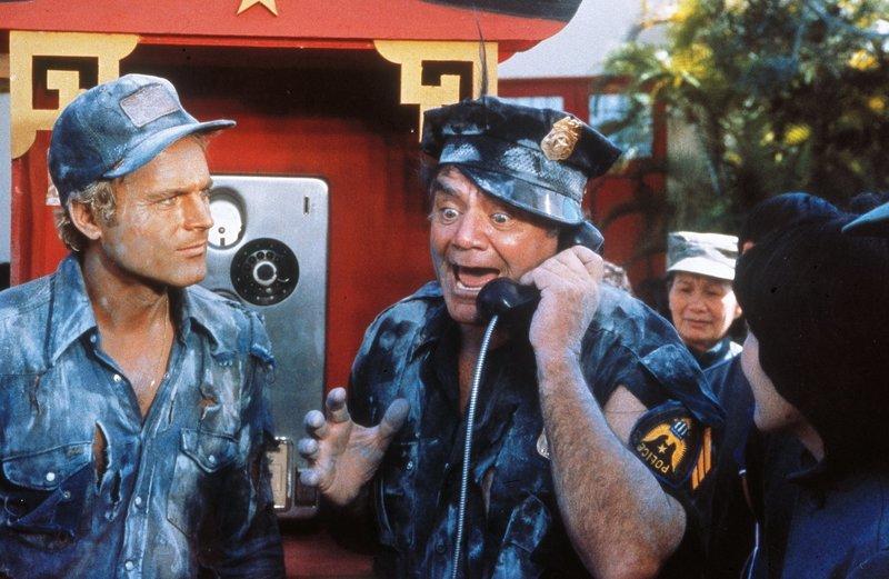Dave Speed (Terence Hill, l.); Willy Dunlop (Ernest Borgnine, r.) – Bild: Tobis Film Lizenzbild frei