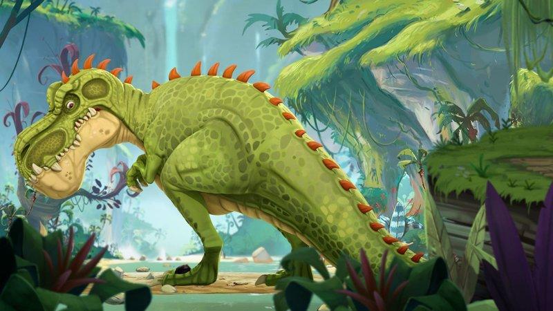 Rocky will ein genauso harter Kerl wie der Gigantosaurus werden. – Bild: Super RTL