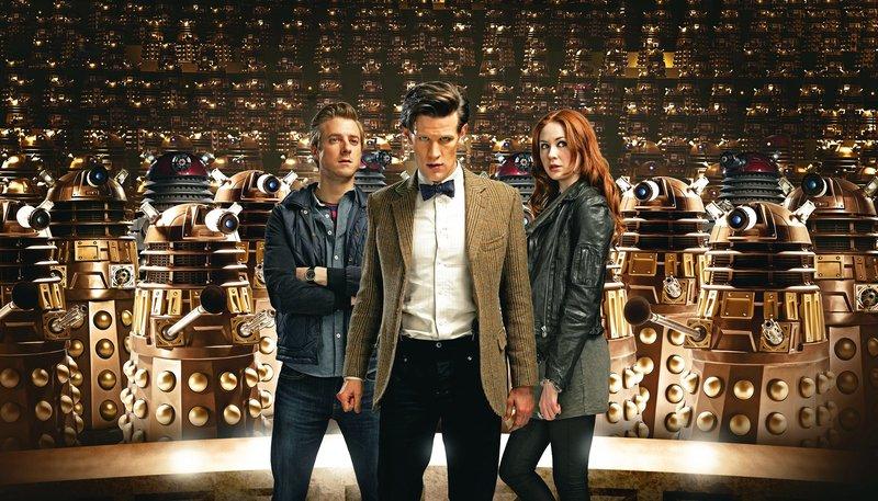 Rory Williams (Arthur Darvill), der Doctor (Matt Smith) und Amy Pond (Karen Gillan) – Bild: WDR/BBC