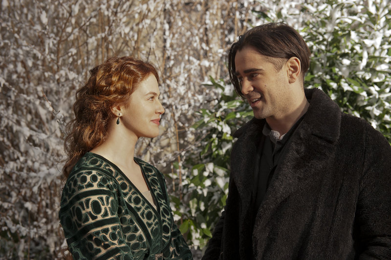 L-R: Beverly Penn (Jessica Brown Findlay) und Peter Lake (Colin Farrell) – Bild: wbitv.com / © 2014 Warner Bros. Entertainment Inc. All rights reserved.