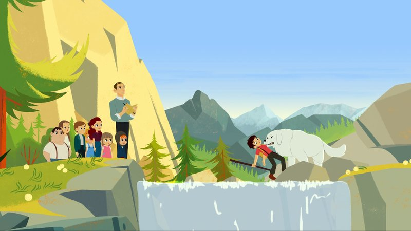 Sebastian (rechts) erklärt seinen MitschĂĽlern die Natur und fällt dabei fast ins Wasser.– Bild: KiKA