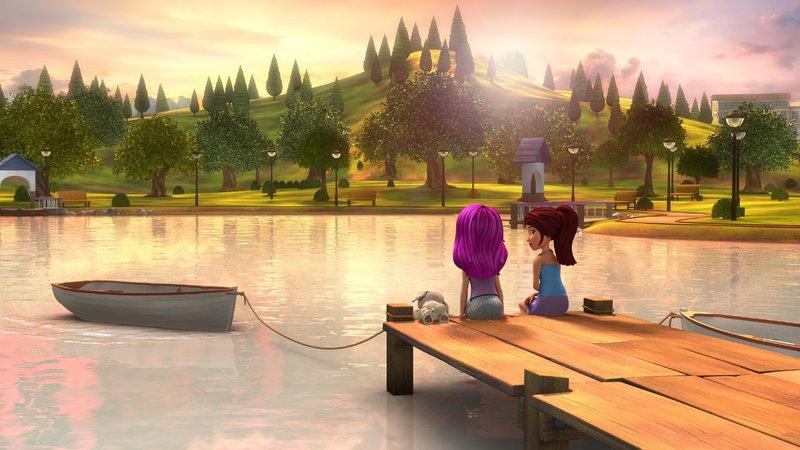 Mia (r.) und Sängerin Livi verbringen einen Tag zusammen und werden gute Freundinnnen. – Bild: Super RTL
