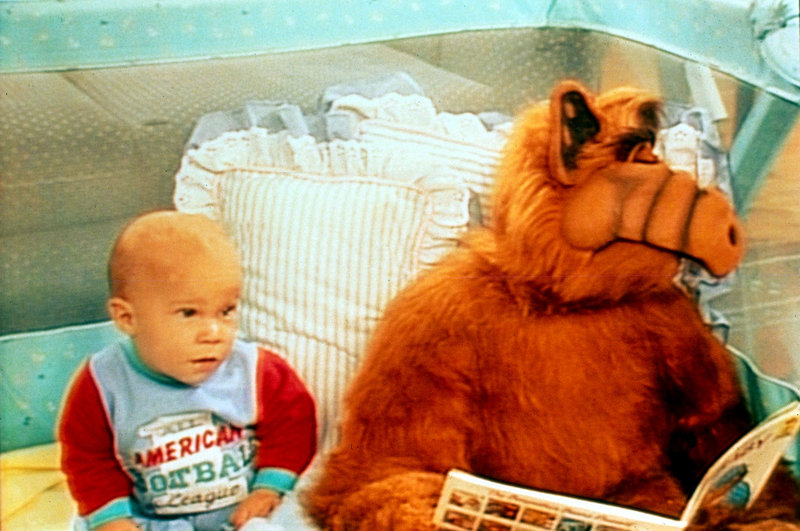 Alf nimmt seine Aufpasserpflichten durchaus ernst, auch wenn er hin und wieder vom Schlaf übermannt wird... – Bild: ATV II