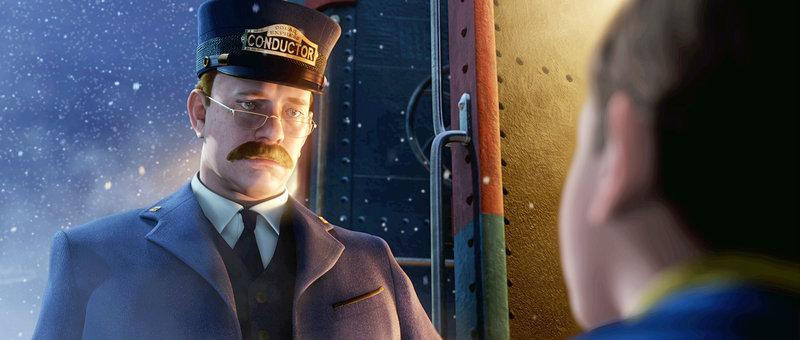 Als der Schaffner des Zuges den Jungen erblickt, lädt er ihn auf eine Reise zum Nordpol ein. Dort soll er sich selbst, zusammen mit anderen Kindern, von der wahrhaftigen Existenz des Weihnachtsmannes überzeugen... – Bild: Super RTL