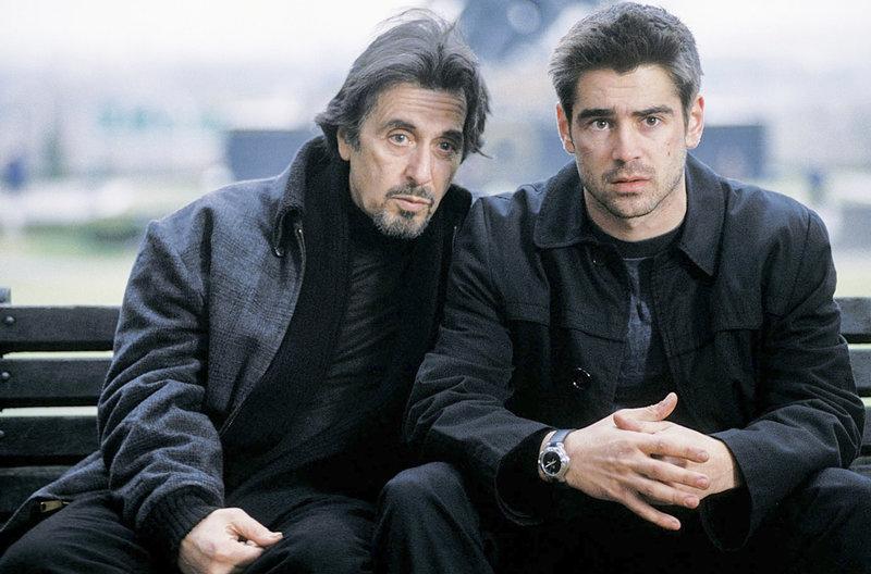 Walter Burke (Al Pacino) versucht James (Colin Farrell) als Rekrut für die CIA zu gewinnen – Bild: Servus TV / Studiocanal