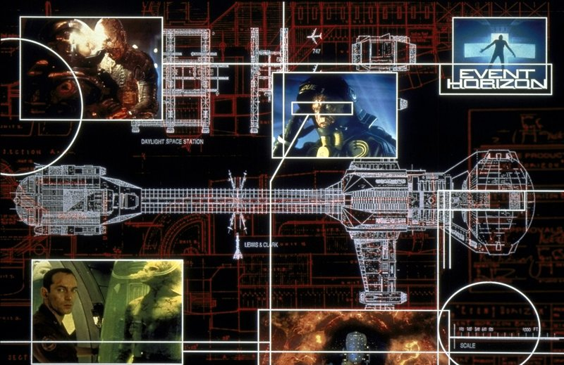 Dank des genialen Gravitationsantriebs soll das Raumschiff Event Horizon in Sekundenbruchteilen von einem Ende des Universums ans andere reisen. – Bild: Paramount Pictures Lizenzbild frei