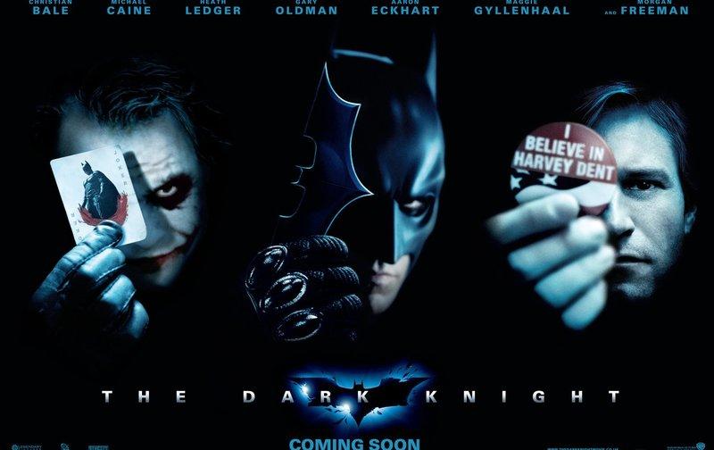 THE DARK KNIGHT - Plakatmotiv - mit (v.l.n.r.) Heath Ledger, Christian Bale und Aaron Eckhart – Bild: Warner Bros. Lizenzbild frei