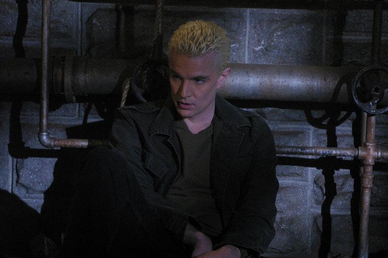 Giles nimmt fälschlicher Weise an, dass die Liebe zu Spike (James Marsters), Buffys Fähigkeit zu Entscheidungen vernebelt ..._Titel: Buffy - Im Bann der Dämonen – Bild: sixx