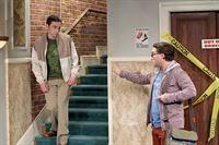"""""""The Big Bang Theory"""", """"Für immer zu dritt."""" Seit sie seinen Heiratsantrag abgelehnt hat, hat Leonard nichts mehr von Penny gehört. Ihm fällt daher ein Stein vom Herzen, als Penny erklärt, dass sie trotzdem immer noch ein Paar sind. Im Überschwang der Gefühle gelobt er, Penny bei allem und jedem voll und ganz zu unterstützen. Es dauert nicht lange und Leonard bereut das abgegebene Versprechen. Derweil regt sich in Amy das schlechte Gewissen, als ihr ein Arbeitskollege hinter Sheldons Rücken äußerst schmeichelhafte Avancen macht.Im Bild (v.li.): Jim Parsons (Sheldon Cooper), Johnny Galecki (Leonard Hofstadter). – © ORF eins"""