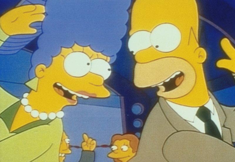 """Marge und Homer erleben einen """"Liebesfrühling"""" beim Klassentreffen. – Bild: PR7; ProSieben Media AG"""