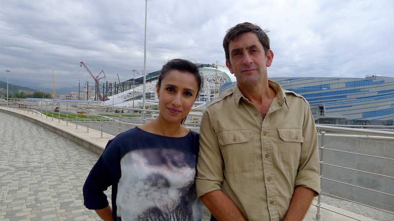 Picture Shows: Anita Rani and Justin Rowlatt in Sochi – Bild: Simon Phillips / © Simon Phillips 2013