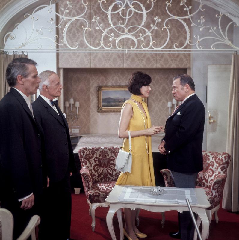 Johann Sklenka, Egon von Jordan, Senta Wengraf, Fritz Muliar. – Bild: ORF III