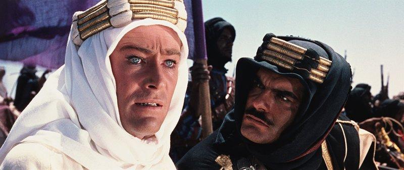 Peter O'Toole (T.E. Lawrence), Omar Sharif (Sherif Ali ibn el Kharish). – Bild: ORF