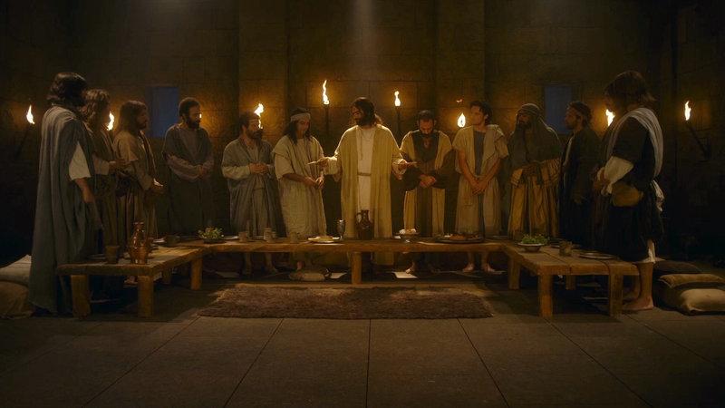 Das letzte Abendmahl – Bild: Bibel TV