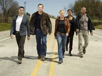 1. Staffel: (v.li.) Jesse Metcalfe, Cole Hauser, Kelli Giddish, Rose Rollins und Amaury Nolasco – © RTL