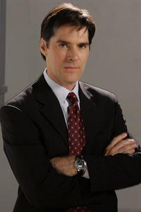 (5. Staffel) - Sorgt für Gerechtigkeit: Agent Aaron Hotchner (Thomas Gibson) ... – © Touchstone Television Lizenzbild frei