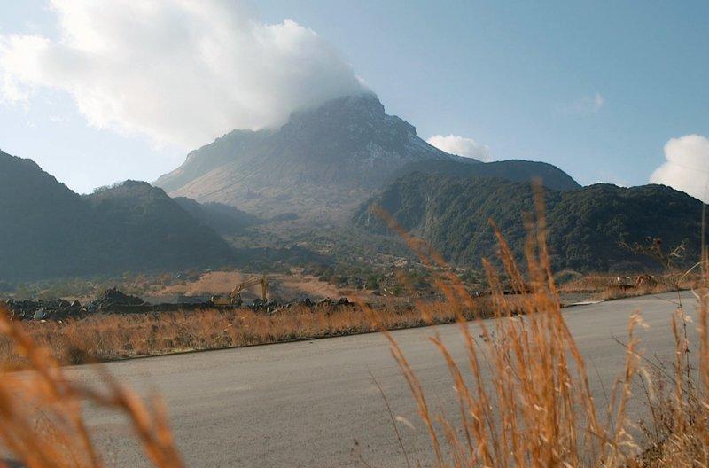 Im äußersten Südwesten Japans auf der dicht besiedelten Insel Kyushu liegt der aktive Vulkankomplex Unzen. – Bild: arte