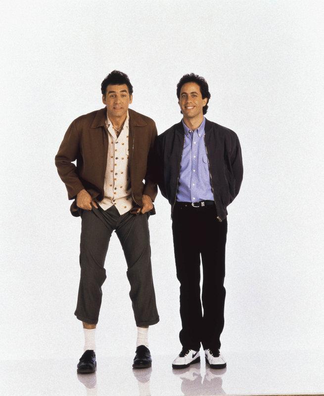 Michael Richards (l.) als Cosmo Kramer und Jerry Seinfeld – Bild: Comedy Central
